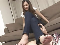 Japanese, Footjob, Foot Fetish