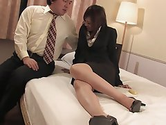 Japanese, Blowjob, Threesome, Brunette