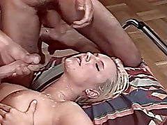 Blonde, Cum in mouth, Cumshot, Facial