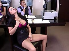 Office, Brunette, Big Tits, Big Cock