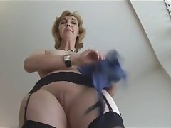 Blonde, British, Granny, Mature