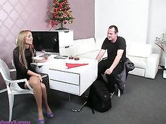Casting, Cumshot, Feet, Masturbation