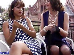 Lesbian, Mature, Stockings